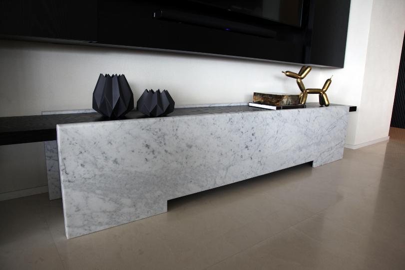 Carrara Marquina Marble Benchtop